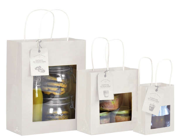 White Kraft Bag with window : Bags
