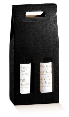Black Milan for 2 bottles : Bottles packaging