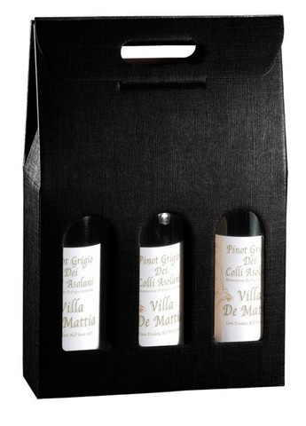 Black Milan for 3 bottles : Bottles packaging and local products