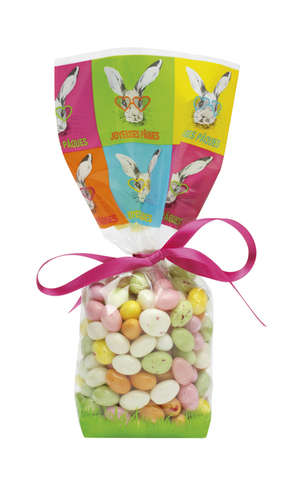 100 Hipster Rabbit Bag - 100 x 220 mm : Confectionery packaging, candy packaging