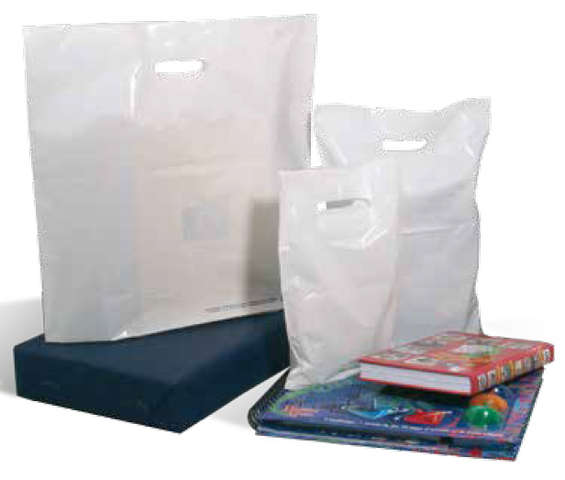 White Plastic bag 50μ 50x50+5 : Shop's bags