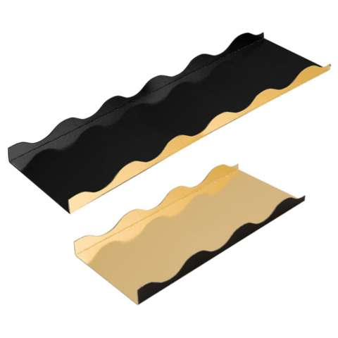 Gold / Black Cardboard for Roll Biscuits or Christmas Log : Boxes