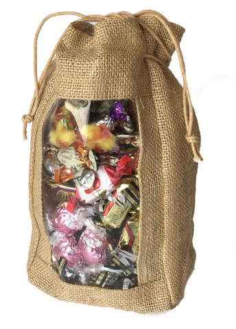 Jute pouch + Window  : Small bags