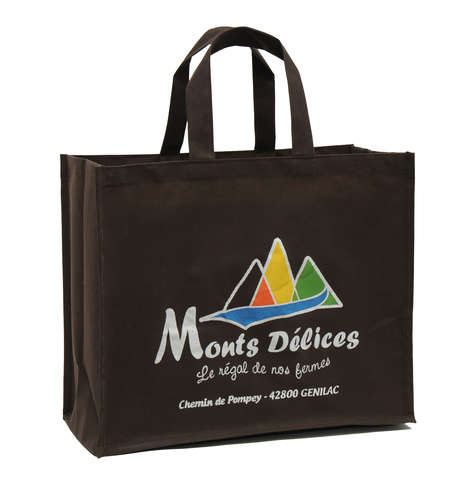 No woven bags with your logo : Personalized packing