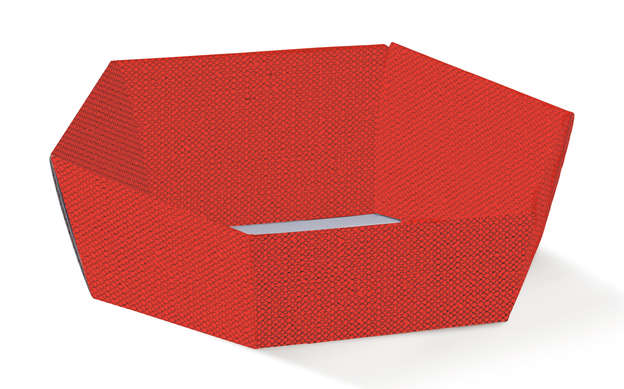Corbeille Hexagonale Rouge : Trays, baskets
