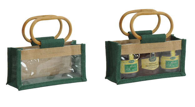 Jute bag for 3 jars x 250 or 125 gr : Jars packing