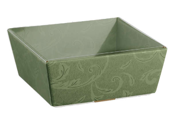Carton box + Transparent protection : Trays, baskets