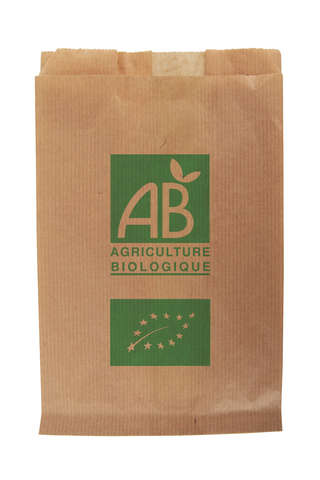 "Kraft paper bag ""AB - Agriculture Biologique"" : Small bags"