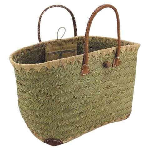 Sac de courses en jonc et raphia : Bags