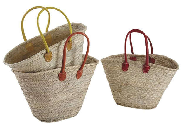 Lot de 3 Sacs Marché en Palmier : Resale collection