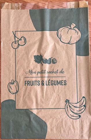Lot de 1000 Sacs fruits 3 kg kraft + fenêtre : Small bags